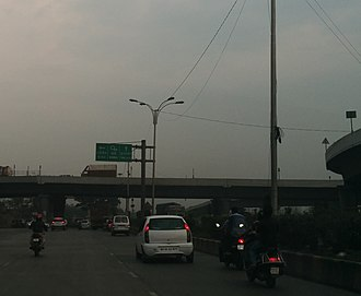 Thane–Belapur Road - Image: Thane Belapur road south terminus