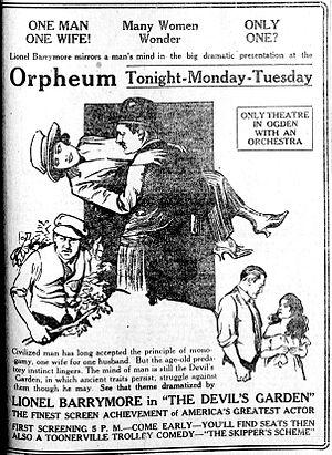 The Devil's Garden - Newspaper advertisement