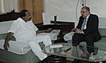The Australia's Commonwealth Ombudsman, Mr. Allan Asher calls on the Union Minister for Law & Justice, Dr. M. Veerappa Moily, in New Delhi on April 19, 2011.jpg