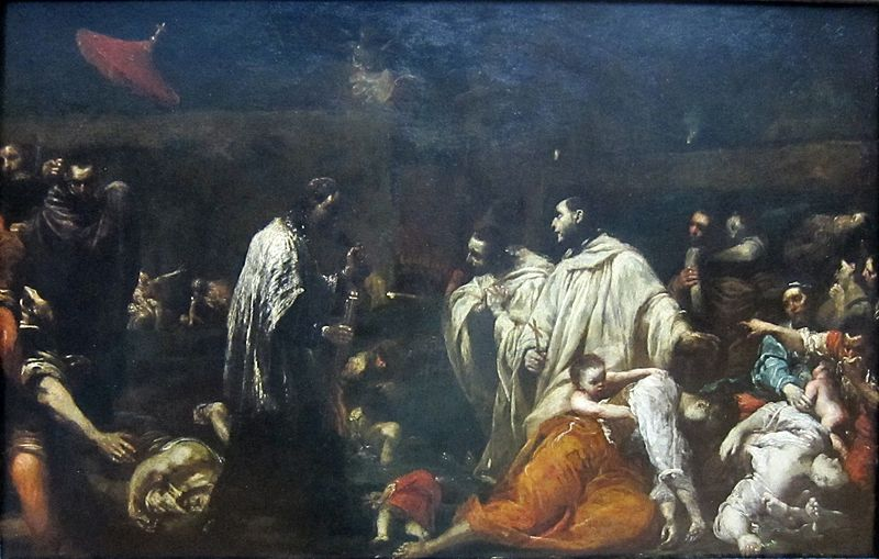 File:The Blessed Bernardo Tolomei Visiting Victims of the Plague by Giuseppe Maria Crespi.JPG