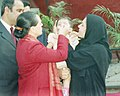 The Chairperson of the National Advisory Council, Smt. Sonia Gandhi administering polio drops to a child to mark the Nation- Wide Pulse Polio Immunization Round, in New Delhi on November 21, 2004.jpg