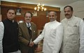 The Chief Minister of Andhra Pradesh, Dr. Y.S. Rajasekhara Reddy meeting the Union Minister for Water Resources, Prof. Saifuddin Soz, in New Delhi on December 10, 2008.jpg