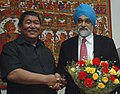The Chief Minister of Arunachal Pradesh, Shri Dorjee Khandu meeting with the Deputy Chairman, Planning Commission, Dr. Montek Singh Ahluwalia to finalize Annual Plan 2008-09 of the State, in New Delhi on February 26, 2008.jpg