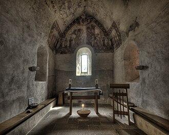 St Brelade's Church - Interior of Fisherman's Chapel