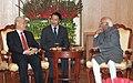 The General Secretary of the Communist Party of the Socialist Republic of Vietnam, Mr. Nguyen Phu Trong meeting the Vice President, Shri Mohd. Hamid Ansari, in New Delhi on November 20, 2013.jpg