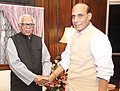 The Governor of Uttar Pradesh, Shri Ram Naik calls on the Union Home Minister, Shri Rajnath Singh, in New Delhi on August 27, 2014.jpg