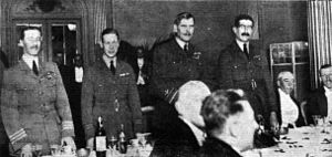 Cyril Newall, 1st Baron Newall - Newall (far left) at a dinner in honour of the Independent Air Force, 1919. He is standing next to Prince Albert, the future George VI. Further right are Hugh Trenchard and Christopher Courtney.