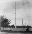 The Jubilee Pole, and the Te Rauparaha Monument, at Otaki ATLIB 306429.png