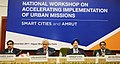 The Minister of State for Housing and Urban Affairs (IC), Shri Hardeep Singh Puri at the inauguration of the National Workshop on Accelerating Implementation of Urban Missions AMRUT & Smart Cities, in New Delhi (1).jpg