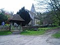 The Monarch's Way passes St John the Baptist Church, Findon - geograph.org.uk - 773004.jpg