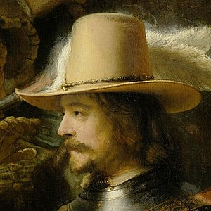 Willem van Ruytenburch - Willem van Ruytenburch is second to Captain Frans Banning Cocq in Rembrandt's Night Watch.
