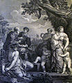 The Phillip Medhurst Picture Torah 163. Reconciliation of Jacob and Laban. Genesis cap 31 vv 44&55. Cortonne.jpg