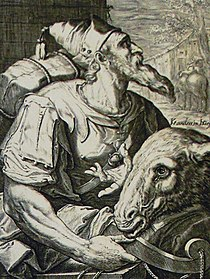 The Phillip Medhurst Picture Torah 263. Issachar. Genesis cap 49 vv 14-15. De Geyn.jpg
