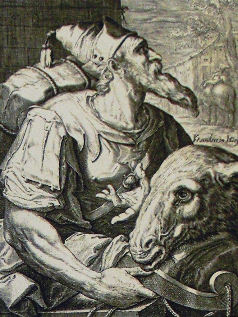 The Phillip Medhurst Picture Torah 263. Issachar. Genesis cap 49 vv 14-15. De Geyn