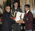 The President, Shri Pranab Mukherjee presenting the Arjuna Award for the year-2012 to Shri Ram Karan Singh for Athletics Paralympics, in a glittering ceremony, at Rashtrapati Bhavan, in New Delhi on August 29, 2012.jpg