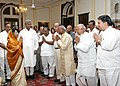 The President, Smt. Pratibha Devisingh Patil meeting with the Members of the Akhil Bhartiya Aggarwal Samaj, who called on her at Rashtrapati Bhavan, in New Delhi on October 11, 2007.jpg