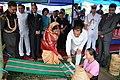 The President, Smt. Pratibha Devisingh Patil visited the Handloom & Handicrafts exhibition at Aizawl, Mizoram on September 23, 2010 (1).jpg