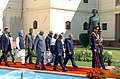 The President Dr. A.P.J. Abdul Kalam is being led in a ceremonial procession to the Central Hall of the Parliament to address the Joint Session of the Parliament in New Delhi on February 25, 2005 (2).jpg