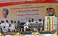 The Prime Minister, Dr. Manmohan Singh addressing at the foundation stone laying function for India's Longest Elevated Corridor connecting Chennai Port & Maduravoyal Junction, Chennai on January 08, 2009.jpg