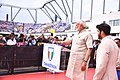 The Prime Minister, Shri Narendra Modi at the ceremony to inaugurate the TransStadia Integrated Sports & Entertainment Arena Project & Khel Mahakhumbh-2017, in Ahmedabad, Gujarat on June 30, 2017 (3).jpg