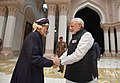 The Prime Minister, Shri Narendra Modi meeting the Sultan of Oman, Sultan Qaboos bin Said Al Said, at Bait Al Baraka, in Muscat, Oman on February 11, 2018.jpg