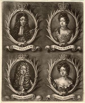 Bernard Lens II - The Royal Family of king William III, by Bernard Lens II