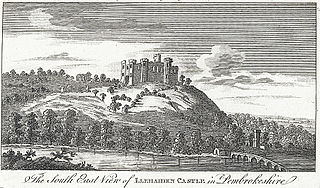 The South East View of Llehaiden Castle, in Pembrokeshire