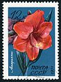 The Soviet Union 1971 CPA 4083 stamp (Amaryllis) cancelled large resolution.jpg