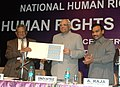The Speaker, Lok Sabha, Shri Somnath Chatterjee releasing the postage stamp at the National Human Rights Commission on Human Rights Day Function, in New Delhi on December 10, 2008.jpg