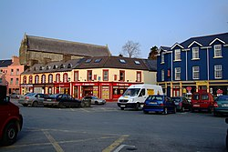 The junction of Main Street, North Road and the pier in Castletownbere