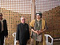 The Union Minister of External Affairs, Shri Pranab Mukherjee meeting with the Libyan leader col. Muammar Gaddafi, in Libya on May 27,2007.jpg
