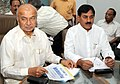 The Union Power Minister, Shri Sushilkumar Shinde and the Minister of State of Power, Shri Bharatsinh Solanki at the review meeting of capacity addition programme for the 11th plan, in New Delhi on July 09, 2009.jpg
