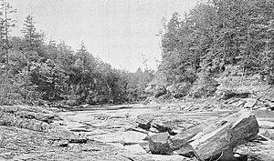 Esopus Creek - Cathedral Gorge on Esopus Creek, 1899