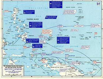 Battle of Morotai - Allied operations and major Japanese garrisons in the Western Pacific between July and September 1944
