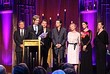 The cast and crew of Rectify at the 74th Annual Peabody Awards