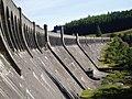 The concrete bulk of Clatteringshaws Dam - geograph.org.uk - 540068.jpg