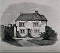 The cottage in Wrington, where John Locke was born. Etching. Wellcome V0018879.jpg