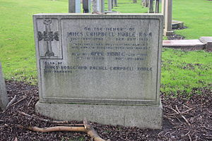 James Campbell Noble - The grave of James Campbell Noble, Rosebank Cemetery