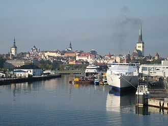 Tallinn Passenger Port - Image: The passenger harbour of Tallinn in autumn