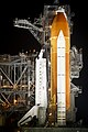 The space shuttle Endeavour is seen on launch pad 39a at Kennedy Space Center in Cape Canaveral, Fla, Thursday, April 28, 2011. Original from NASA. Digitally enhanced by rawpixel. (32479213108).jpg