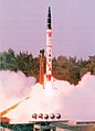 The user trial of Agni Missile A-I was conducted successfully by Strategic Forces Command at Chandipur at Sea near Balasore in Orissa on October 05, 2007.jpg