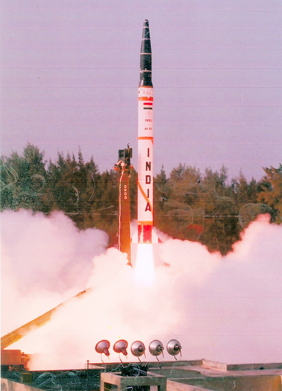 The user trial of Agni Missile A-I was conducted successfully by Strategic Forces Command at Chandipur at Sea near Balasore in Orissa on October 05, 2007
