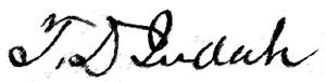 Theodore Judah - Image: Theodore D. Judah Signature