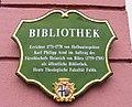 Theologische Fakultät Fulda, Bibliothek - Schild.JPG