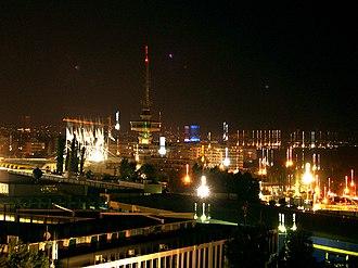 OTE Tower - Image: Thessaloniki OTE Tower night