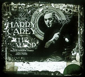 The Wallop - Damaged lantern slide for the film.
