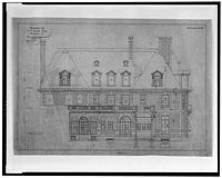 Drawing designs by de Sibour of the Thomas T. Gaff House
