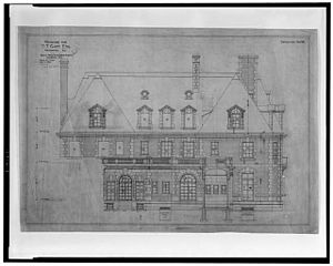 Thomas T. Gaff House - Drawing designs by de Sibour of the Thomas T. Gaff House