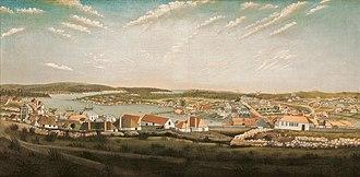 Rum Rebellion - Painting of Sydney, c. 1799