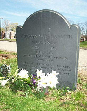 Thomas Wentworth Higginson - Grave of Thomas Wentworth Higginson